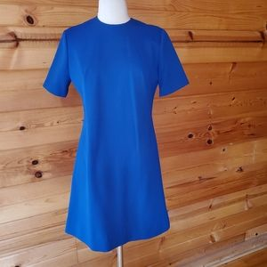 1960s Unlabeled Navy, Double Knit Polyester, Shif